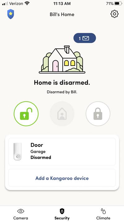 kangaroo app sensor